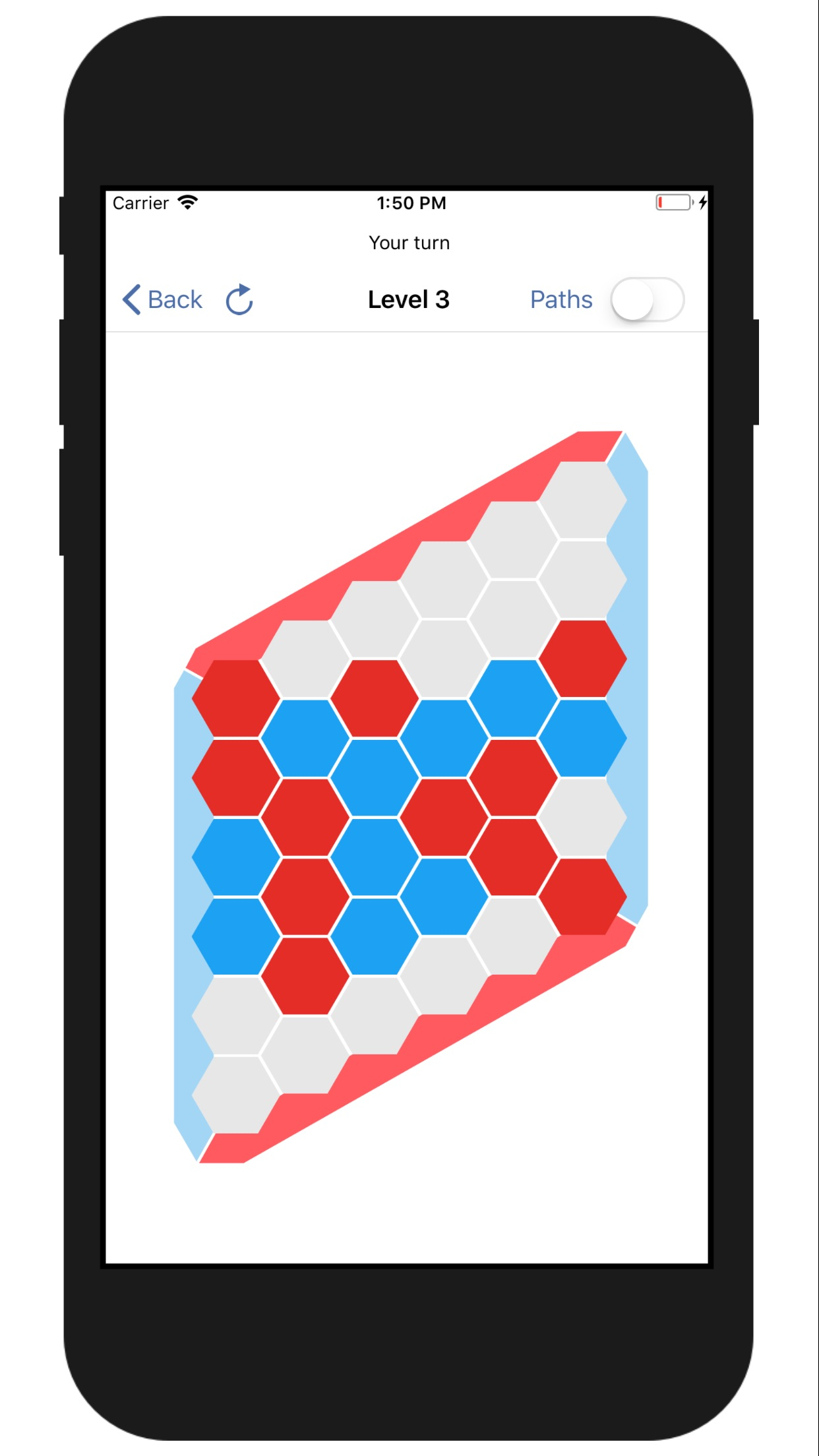 Screenshot do app Hex - AI Board Game