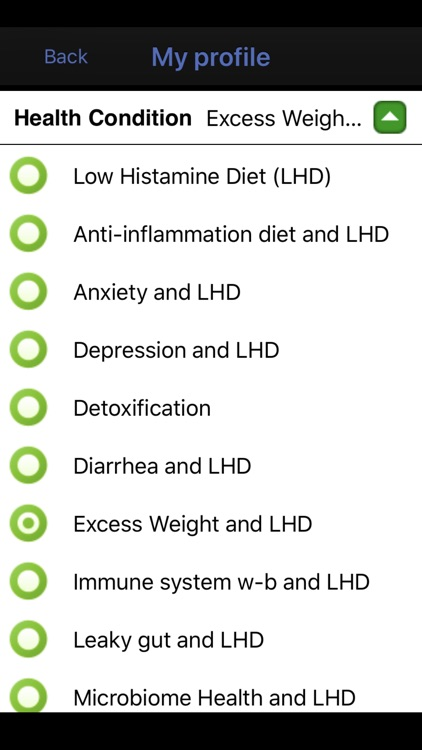 Low Histamine Diet screenshot-1