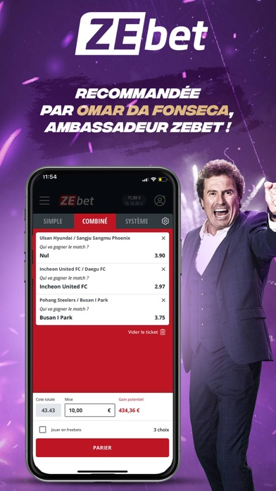 messages.download ZEbet - Paris sportifs software