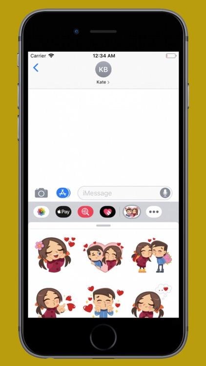 Happy Couple Valentine Sticker screenshot-3