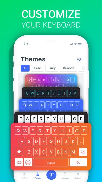 Fonts X - Keyboard for iPhones screenshot-4