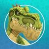 ギガントサウルスと滝