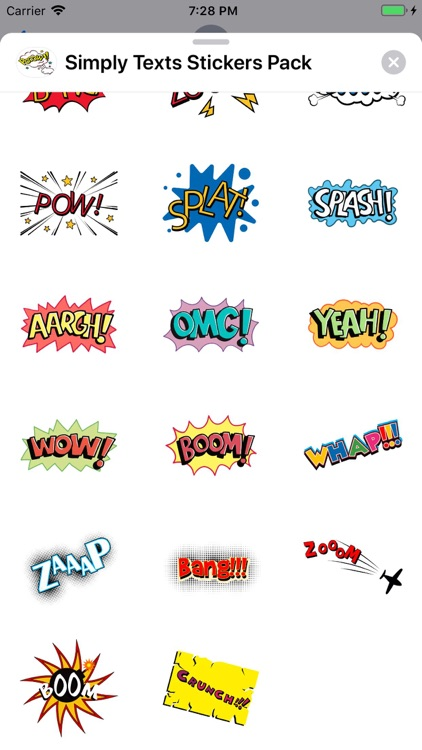 Simply Texts Stickers Pack screenshot-3