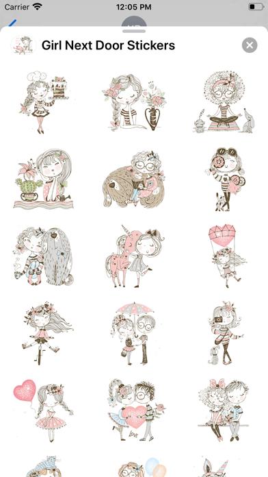 Girl Next Door Stickers screenshot 2