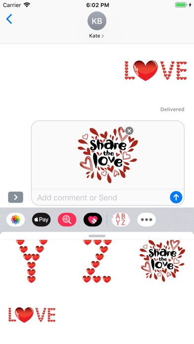 Love Alphabet Stickers app image
