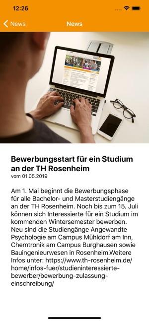 Bewerbung Und Zulassung Technische Hochschule Rosenheim