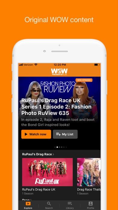 WOW Presents Plus Screenshot