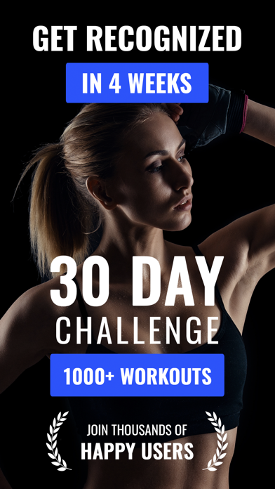 自宅での30日間のフィットネス減量チャレンジアプリのおすすめ画像1