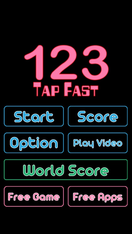 123 Numbers Tap Fast Game