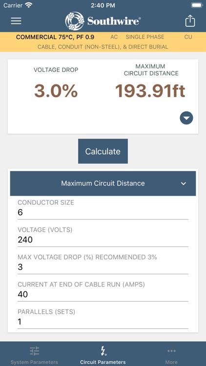 Southwire® Voltage Drop Calc screenshot-4
