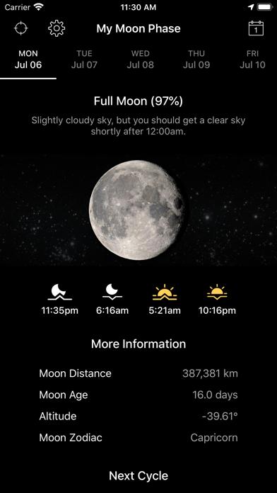 My Moon Phase - Lunar Calendarのおすすめ画像1