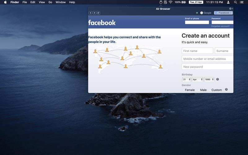 Air Browser скриншот программы 2