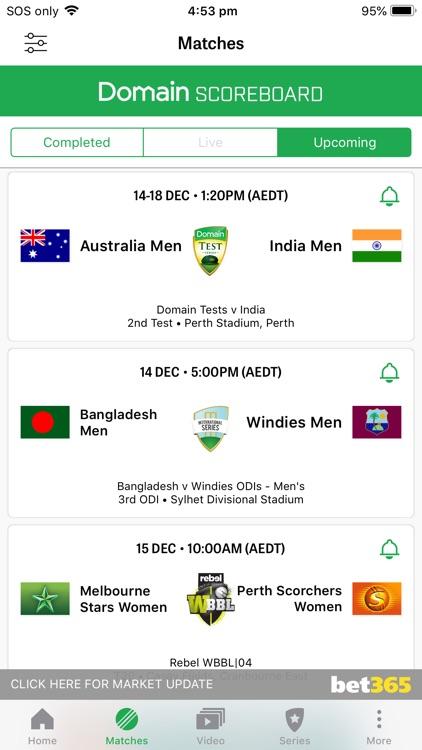 Cricket Australia Live screenshot-4