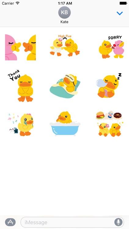 Animated Cute Duck Sticker