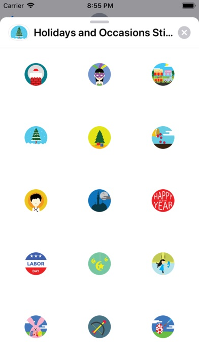 Screenshot for Holidays and Occasions Sticker in Hong Kong App Store