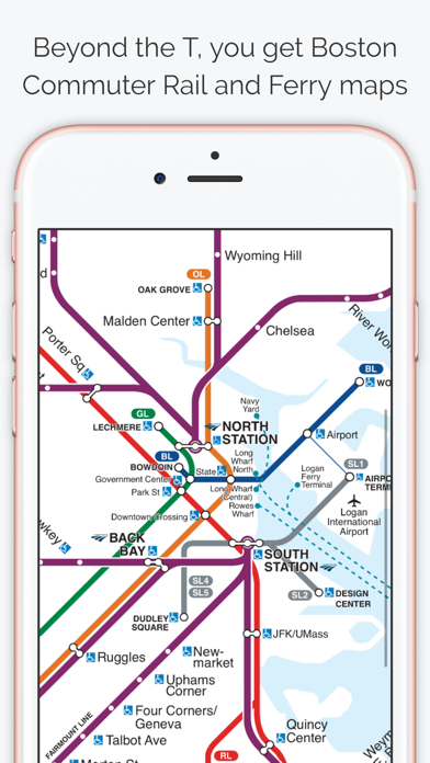 Subway Map In Boston.Boston Subway Map The T By Bappz Ios United States Searchman