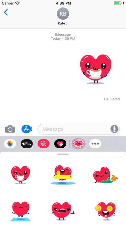 Sweety Hearts Stickers Pack screenshot-4
