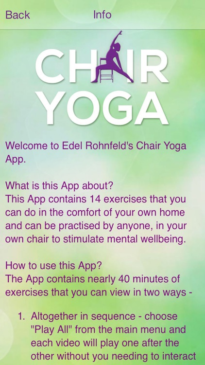 Chair Yoga: Edeltraud Rohnfel screenshot-3