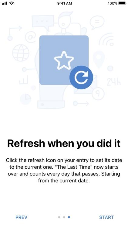 The Last Time - Days tracker screenshot-6