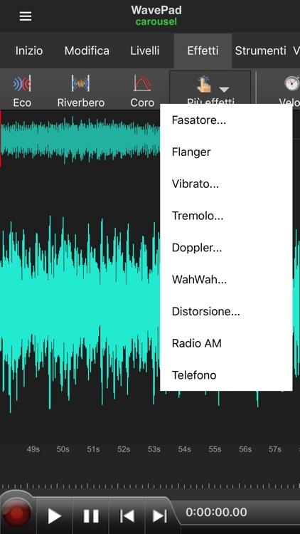 WavePad Editor- Musica e Audio screenshot-4