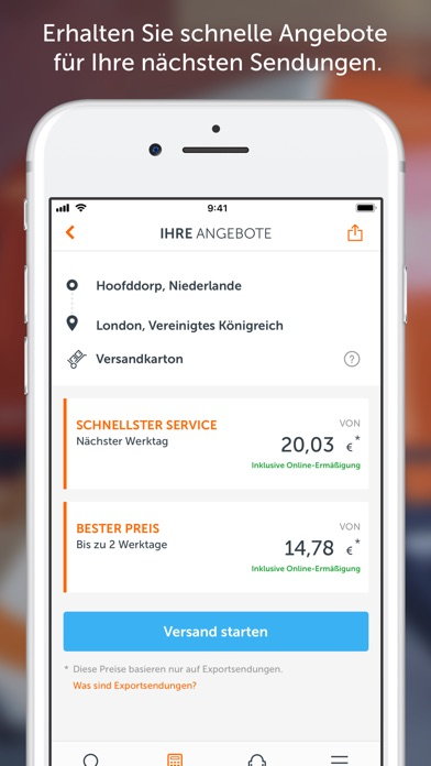 Screenshot for TNT - Track and Trace in Austria App Store