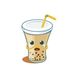可爱初见奶茶