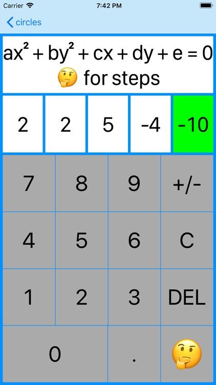 Circles and Equations screenshot-6