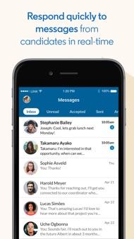 LinkedIn Recruiter iphone images