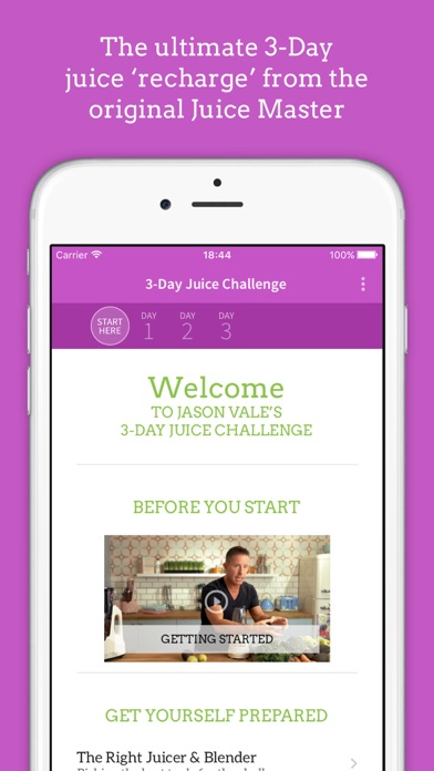 Screenshot for Jason's 3-Day Juice Challenge in United Arab Emirates App Store