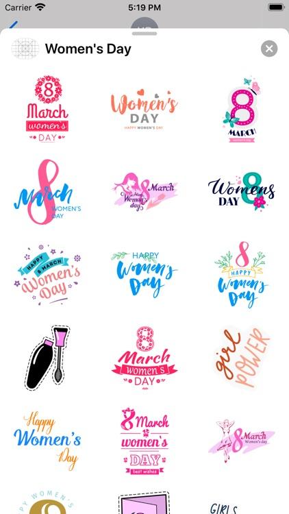 Happy Women's Day Sticker Apps