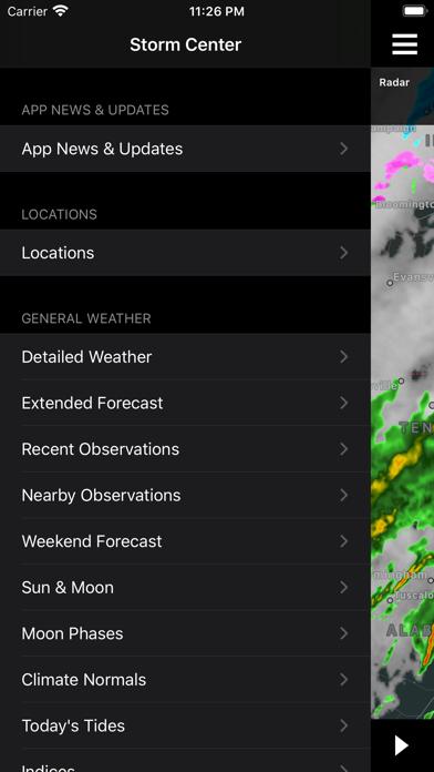 NOAA Storm Center Screenshot