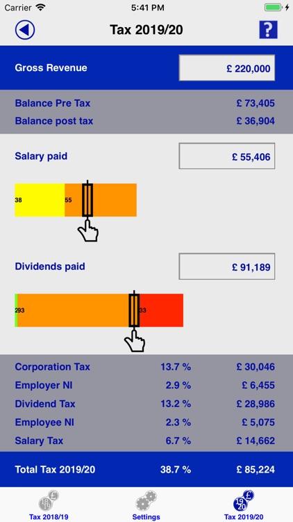 Contractor Tax Calc UK 2019/20