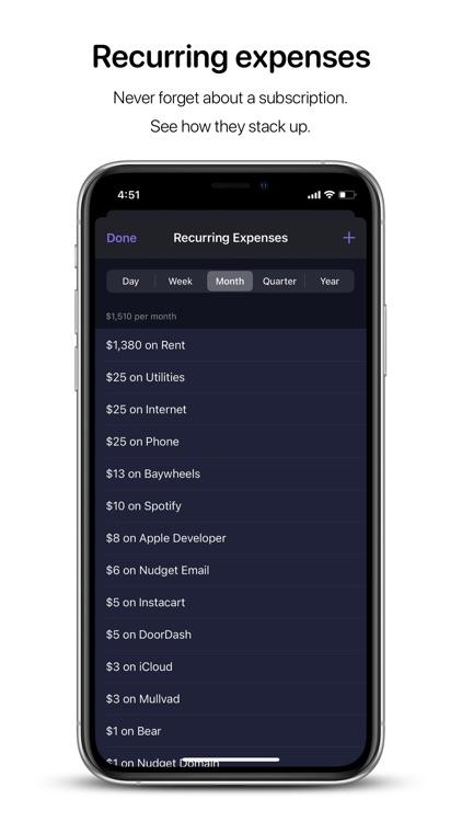 Nudget: Spending Tracker screenshot-5