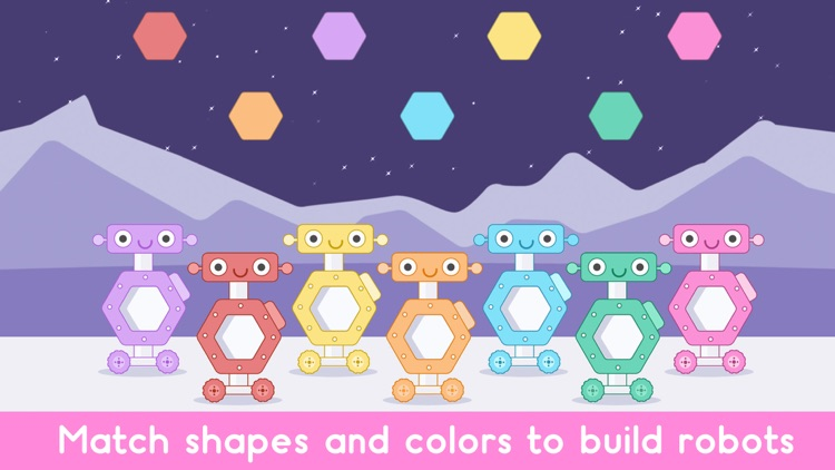 Robot Games Shapes and Colors