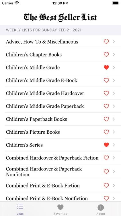 The Best Seller List
