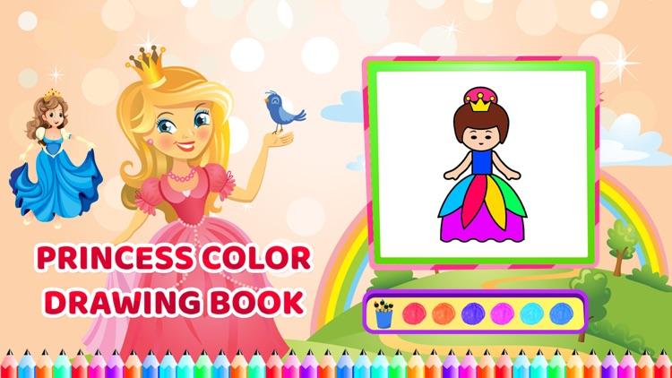 Princess Colour Drawing Book screenshot-3