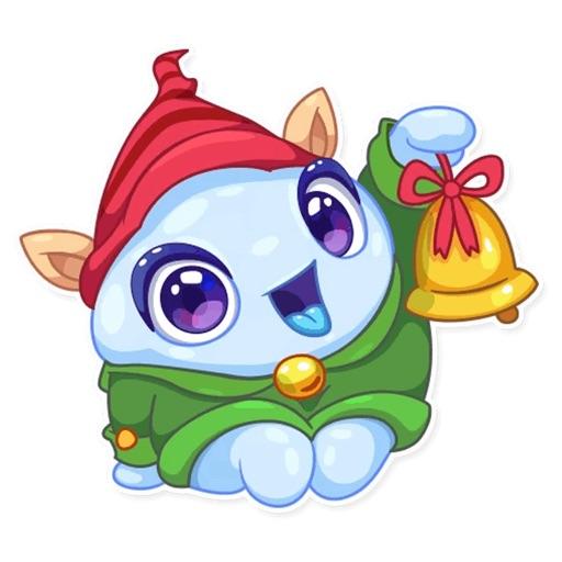Christmas Snow - Xmas Sticker