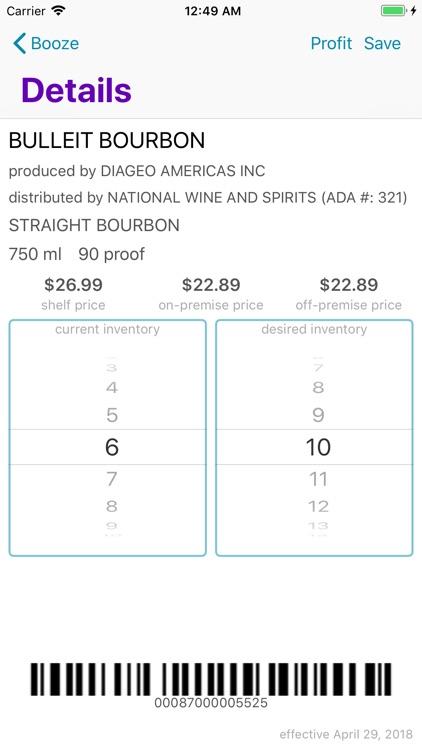 Michigan Liquor Inventory