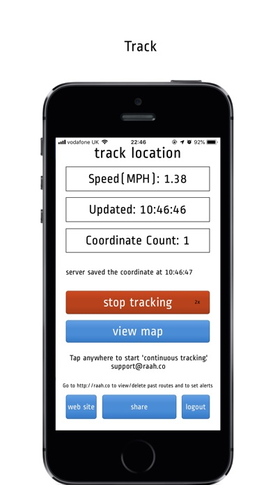 Route Tracker Pro Version Screenshots