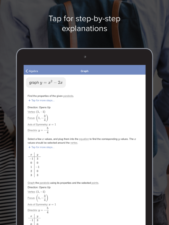 iPad Image of Mathway: Math Problem Solver