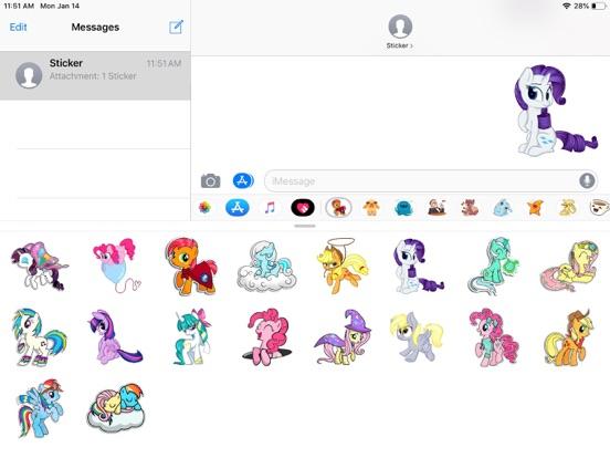 Pony Cute Funny Stickers screenshot 4