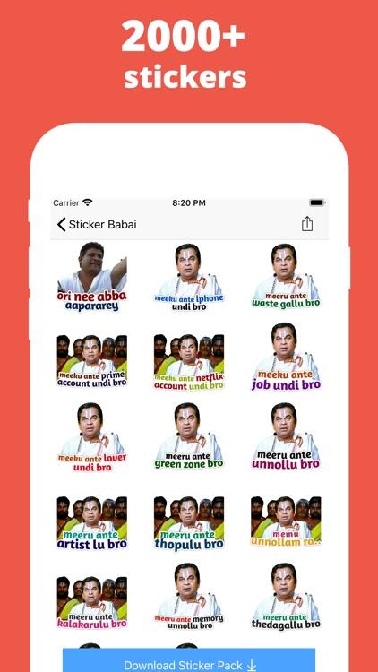 Sticker Babai: Telugu Stickers screenshot-3