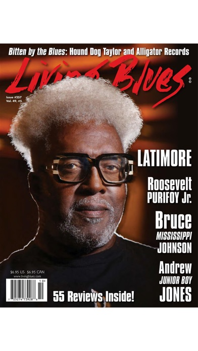 Living Blues Magazine review screenshots