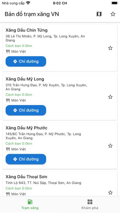 Bản đồ Trạm Xăng Việt Nam