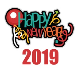 Happy New Year 2019 Sticker