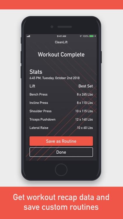 CleanLift - Weight Training screenshot-3