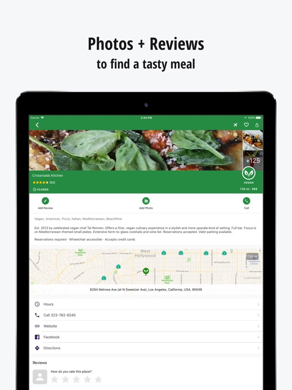 Screenshot #3 for HappyCow Find Vegan Food