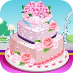 Rose Wedding Cake Cooking Game