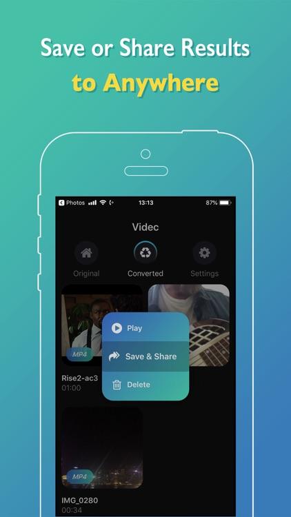 Videc - Any Video Converter screenshot-5