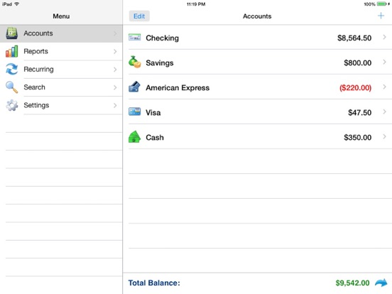 Accounts 2 Lite - Checkbook screenshot